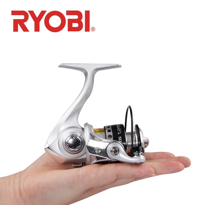 <font><b>RYOBI</b></font> 500 800 <font><b>1000</b></font> Fishing Reel Spinning Reel 3+1BB gear ratio 5.2:1 max drag 3kg Metal Spool Saltwater Fishing wheels image