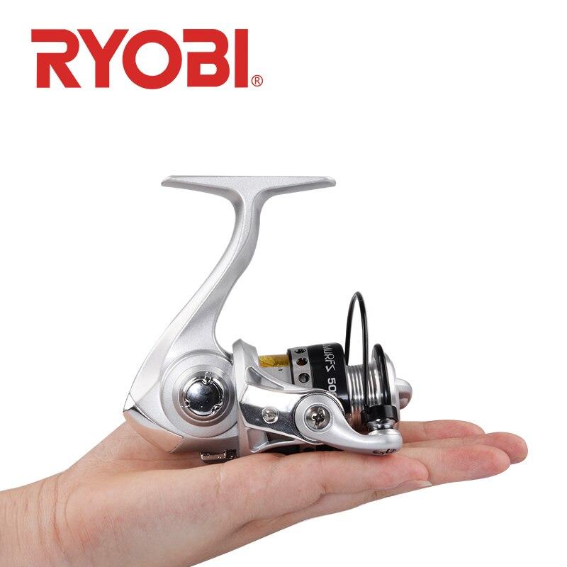 RYOBI 500 800 1000 relação da engrenagem Carretel De Pesca Spinning Reel 3 + 1BB 5.2: max arraste 1 3kg rodas de Metal Carretel de Pesca De Água Salgada