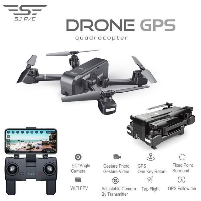 SJRC Z5 Quadrocopter avec caméra HD 1080 P GPS Drone 5G Wifi FPV maintien d'altitude suivez-moi Mode hélicoptère Rc vs XS812