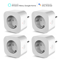 4PCS Elelight WiFi Smart Socket Remote Control Outlet Socket Smart Plug Electrical Wall Sockets EU Universal Electric Socket