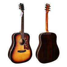 Finlay Professional Guitar,41 Acoustic Guitar,Solid Spruce Top/Rosewood Body, guitars china With Hard case,OM Body,sunset