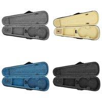 4 Colors Handheld 4/4 Violin Storage Case Organizer Waterproof Musical Instrument Backpack Box Violin Accessories Shockproof