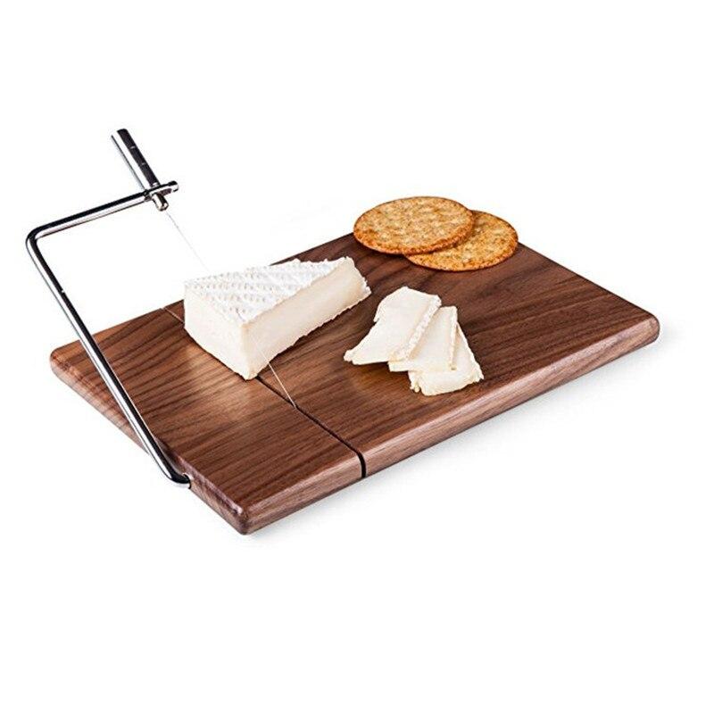 Fromage trancheuse beurre planche à découper Noir grumes de noyer bois fromage fromage table de découpe Couteau À Fromage de Cuisson Cuisson Panneau De Couteau