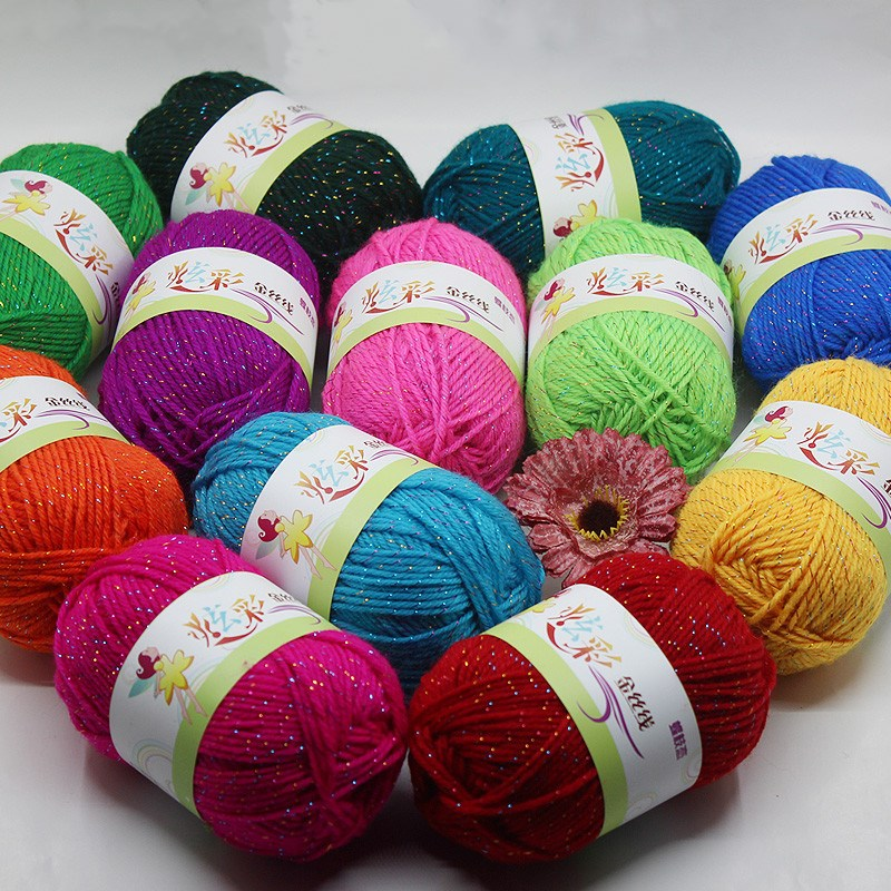 Yarn Aggressive 10pcs Colorful Bright Silk & Color Silk Acrylic Yarn For Knitting Baby Hand Knitted Yarn Soft Crochet Yarn 500g/lot Diversified In Packaging