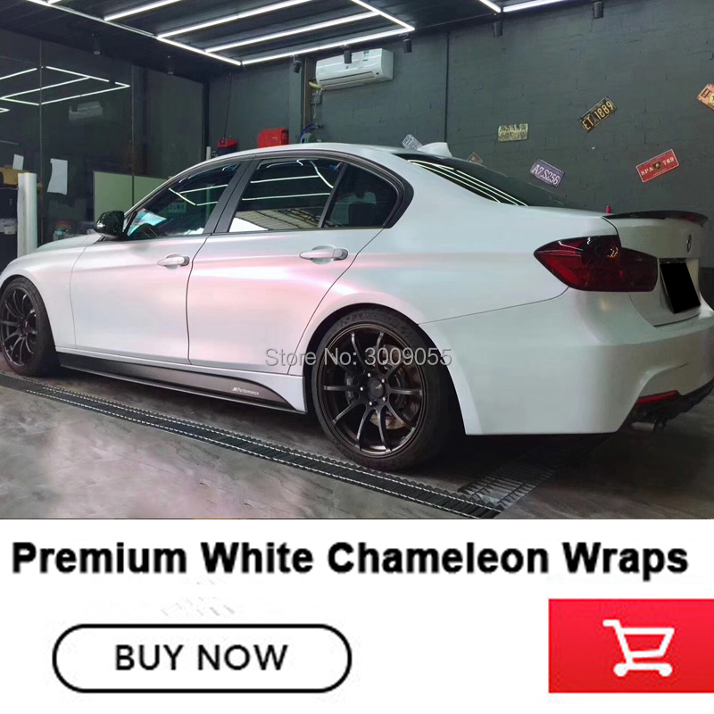 20m Vinyl Car Motorcycle Wrapping Foil Decoration Chameleon Stickers Car Styling Waterproof White Chameleon wrapping film