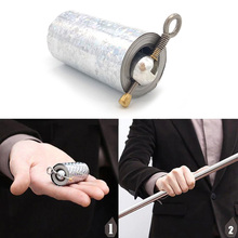 Wonderful Appearing Cane Metal Silver Magic Close Up Illusion Silk to Wand Tricks Stage YJS Dropship