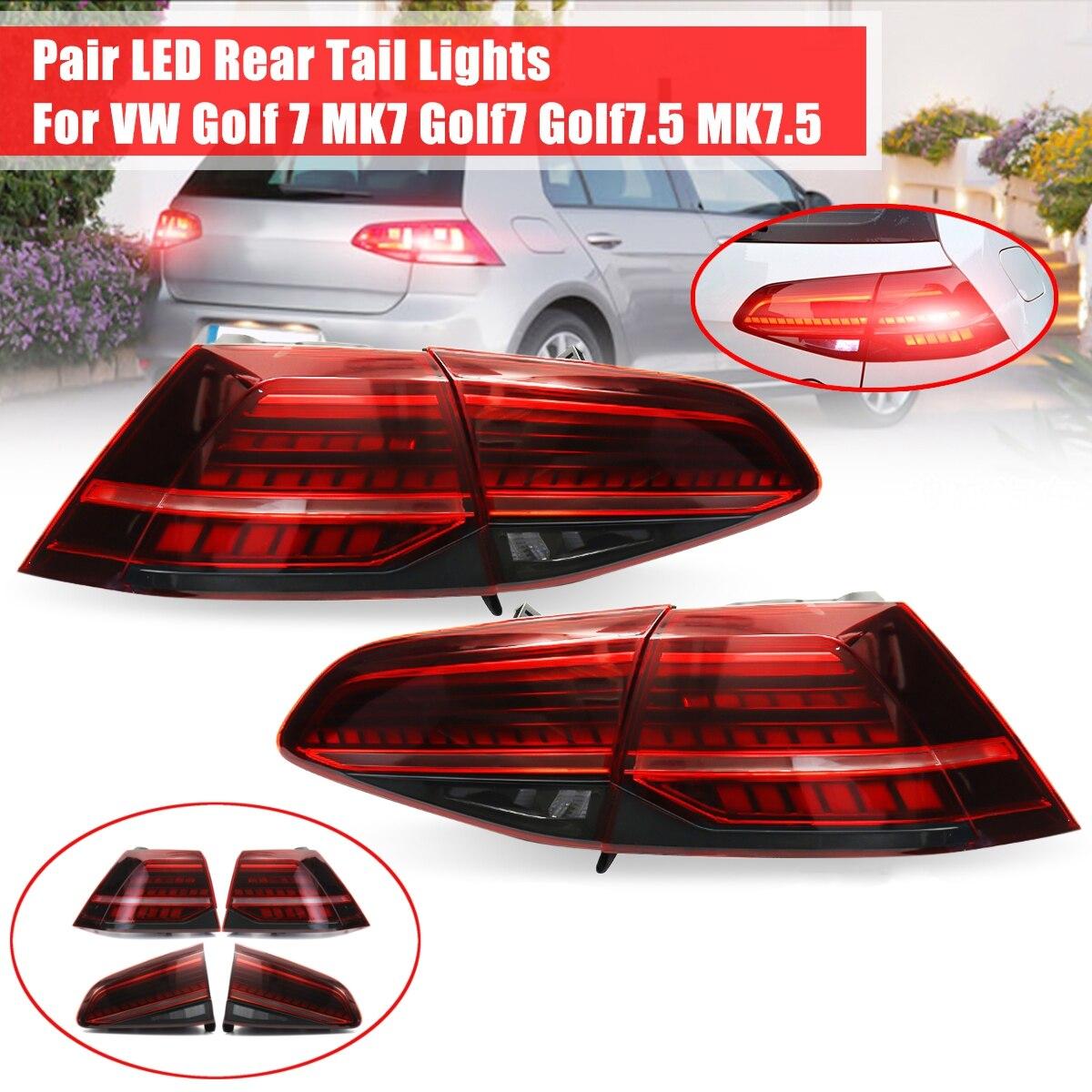 for VW Golf 7 MK7 Golf 7 Golf 7 5 MK 7 5 LED Tail Light Brake Light Taillights Tail Lights LED Rear Lamp taillight Automobile