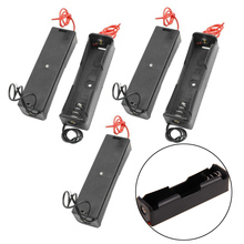 New 5pcs Plastic Battery Holder Storage Box Case For 1x 18650 Rechargeable Batteries 7.6X2.1X1.9cm Mayitr