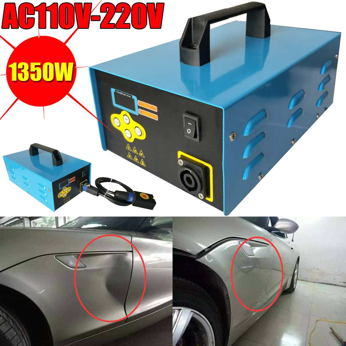 220V/110V 1350W Blue Car Paintless Dent Repair Remover Induction Heater Hot Box Electromagnetic Induction Heater For Repair