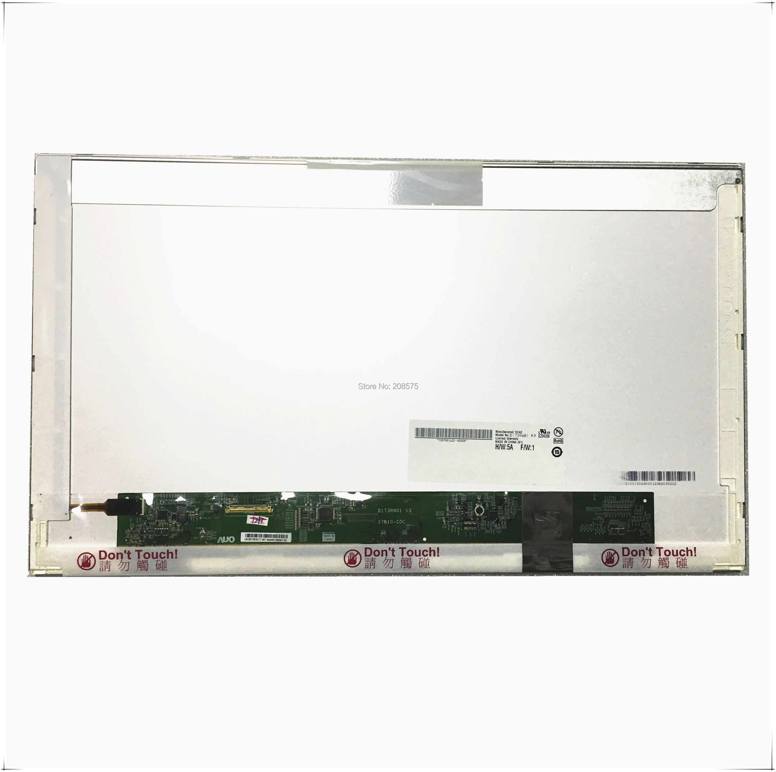 Free Shipping B173RW01 V.3 V3 V.2 V.0 V.4 V.5 LP173WD1 N173O6-L02 LTN173KT01 CLAA173UA01A 40 Pins 1600*900 17.3 LED Screen
