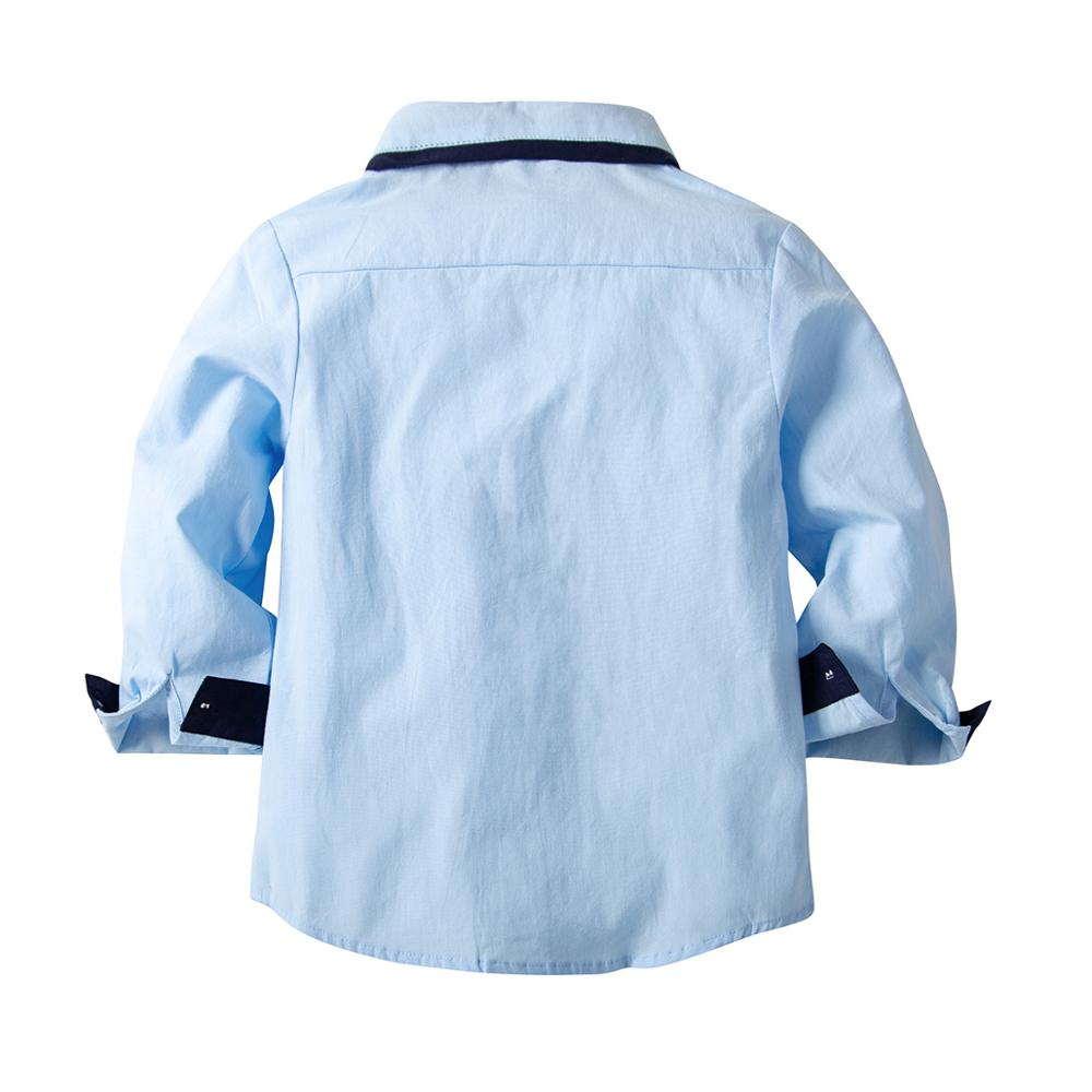 VTOM Baby Boys Shirts New Arrival Kids Clothes Baby Blue Cotton Shirts Children Clothing Long sleeved Shirt For Kids Wear XN60 in Shirts from Mother Kids