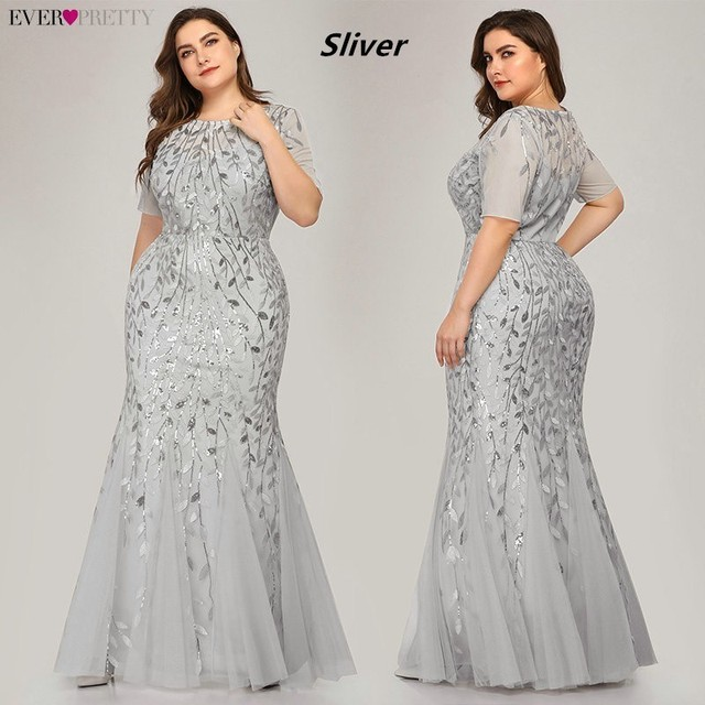 Plus Size Elegant Evening Dresses Saudi Arabia Ever Pretty Mermaid Sequined Lace Appliques Mermaid Long Dress 2019 Party Gowns 3