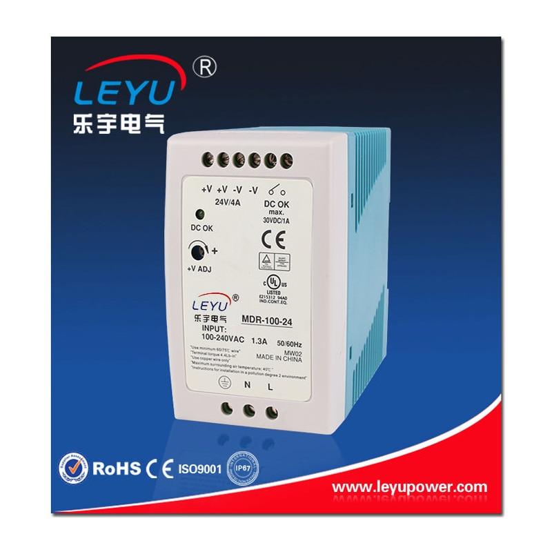 Carril din Fácil instalación 100w alta eficiencia potencia MDR-100-12 salida 12V 7.5A transformador conmutación fuente de alimentación