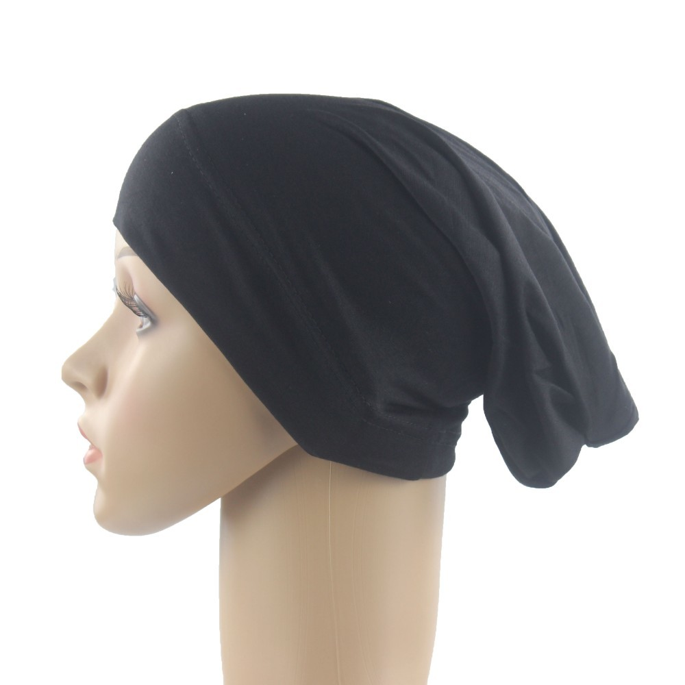 Muslim Women Scarf Cap Cotton Breathable Hat Women's Turban Elastic Cloth Head Cap Hat Ladies Hair Accessories