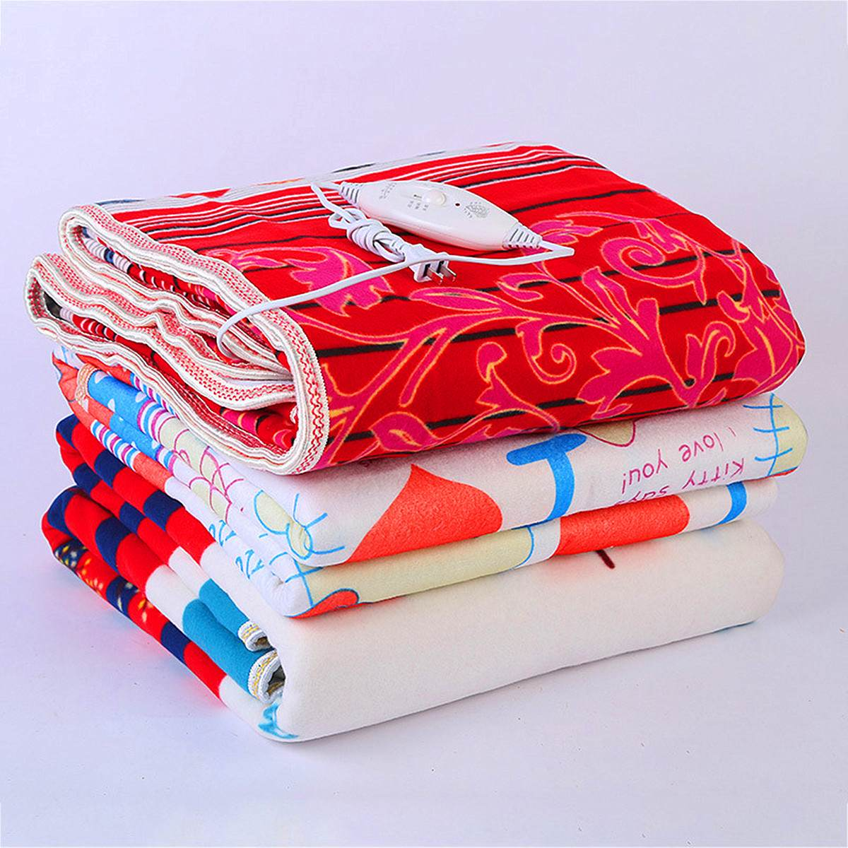 220V Electric Blanket Non-woven Fabric Electric Heating Blanket Single/Double Heated Blanket Printing Electrique Carpet Heated
