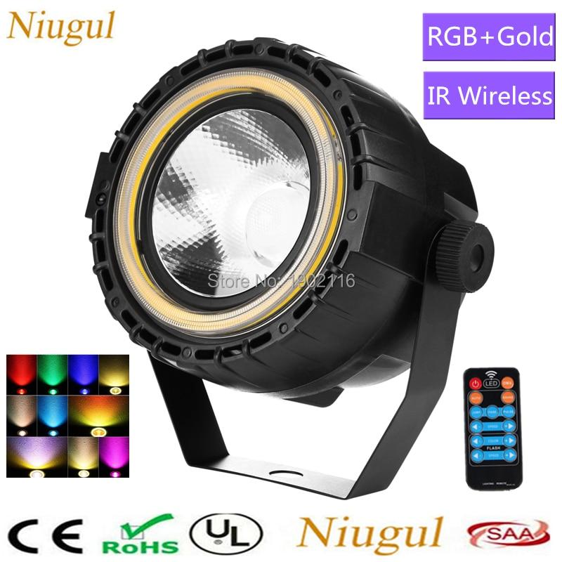 Wireless Remote 30W RGB+ Gold LED Strip 3in1 LED COB LED Par Theater Spotlight Pocket COB Par Light DMX512 LED Stage Lighting