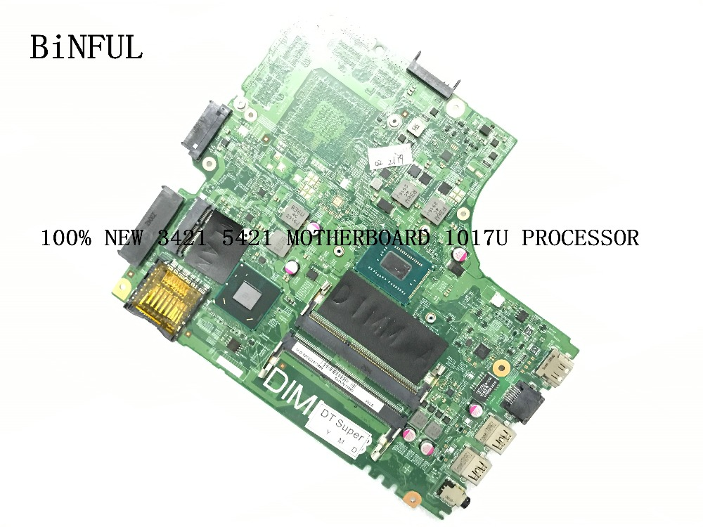 BiNFUL AVAILABLE NEW MAIN BOARD 11204-1 DNE40-CR PWB :5J8Y4 REV : A00  FOR DELL INSPIRON 3421 5421  MOTHERBOARD