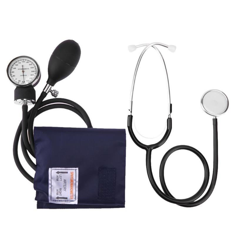 Novo Manual de Braço Medidor de Pressão Arterial Esfigmomanômetro com Estetoscópio Dispositivo Monitor de Monitores de Saúde de Cuidados de Saúde Dropshipping