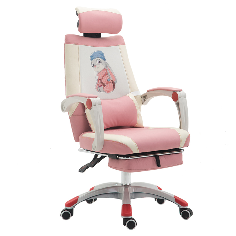 Купить с кэшбэком European Swivel Household To Work In An Office Bring Handrail Dawdler Pink Princess Electric Student Chair