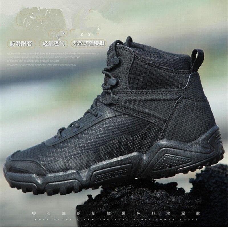Oudoor chaussures de randonnée hommes imperméable antidérapant résistant à l'usure Camping chasse escalade armée Fans formation tactique bottes de Combat