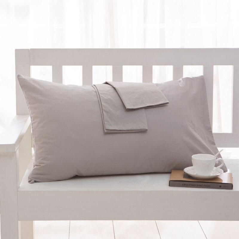 100 cotton Pillowcase Soft Decorative Pillow Case Pillow Covers Solid Color Pillowcases Bedding article 1Pcs 2Pcs