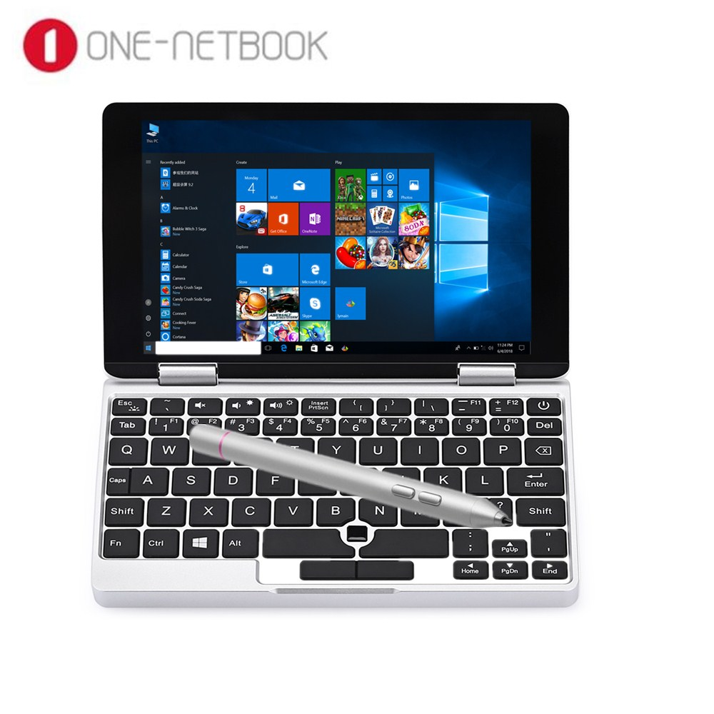 Un Netbook Un Mix De Yoga Ordinateur Portable De Poche 7.0 ''Comprimés Avec Clavier Windows 10.1 Intel Atom X5-Z8350 Quad Core 8 gb + 128 gb Portable