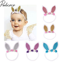 2018 Brand New Cute Baby Girl Toddler Newborn Big Headband Headwear Hair Bow Accessories Party Floral Bunny Hair Bands Baby Gift(China)
