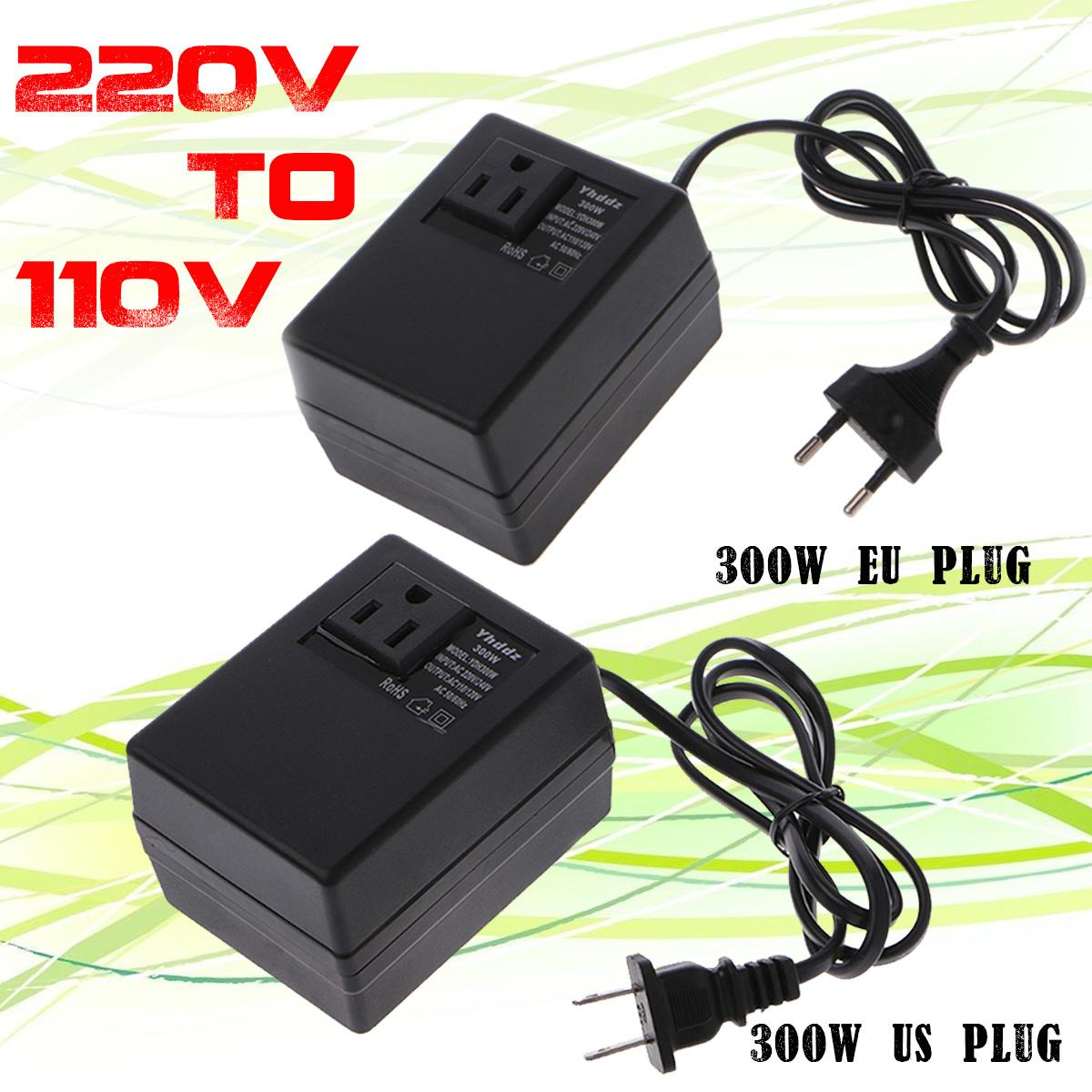 Новый 300 Вт преобразователь напряжения трансформатор понижающий 220 В до 110 В переменного тока понижающий трансформатор для путешествий прео...