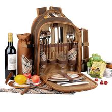 Picnic Bag Portable Camping Backpack Multifunction Refrigerator Cubiertos Set Travel Outdoor Cutlery