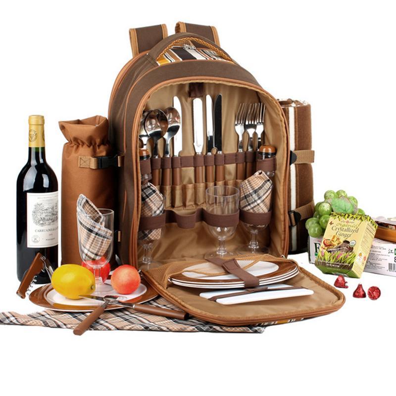Sac pique-nique Portable Camping sac à dos multifonction réfrigérateur sac Cubiertos pique-nique Set voyage pique-nique extérieur couverts sac