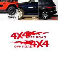 2pcs 4x4 OFF ROAD Car Sticker 30*5.5cm Decor Motorcycle Auto Stickers for Ford Focus 2 Peugeot 307 Universal Styling