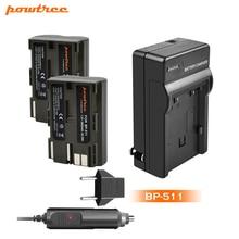 цена на Powtree 2800mAh BP-511 BP511 BP 511 BP-511A Battery+Charger For Canon G6 G5 G3 G2 G1 EOS 300D 50D 40D 30D 20D 5D L10