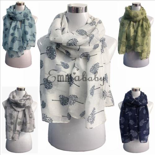 UK Winter New Women Ladies White Blue Long Cotton Scarf Wrap Fashion Shawl Gift