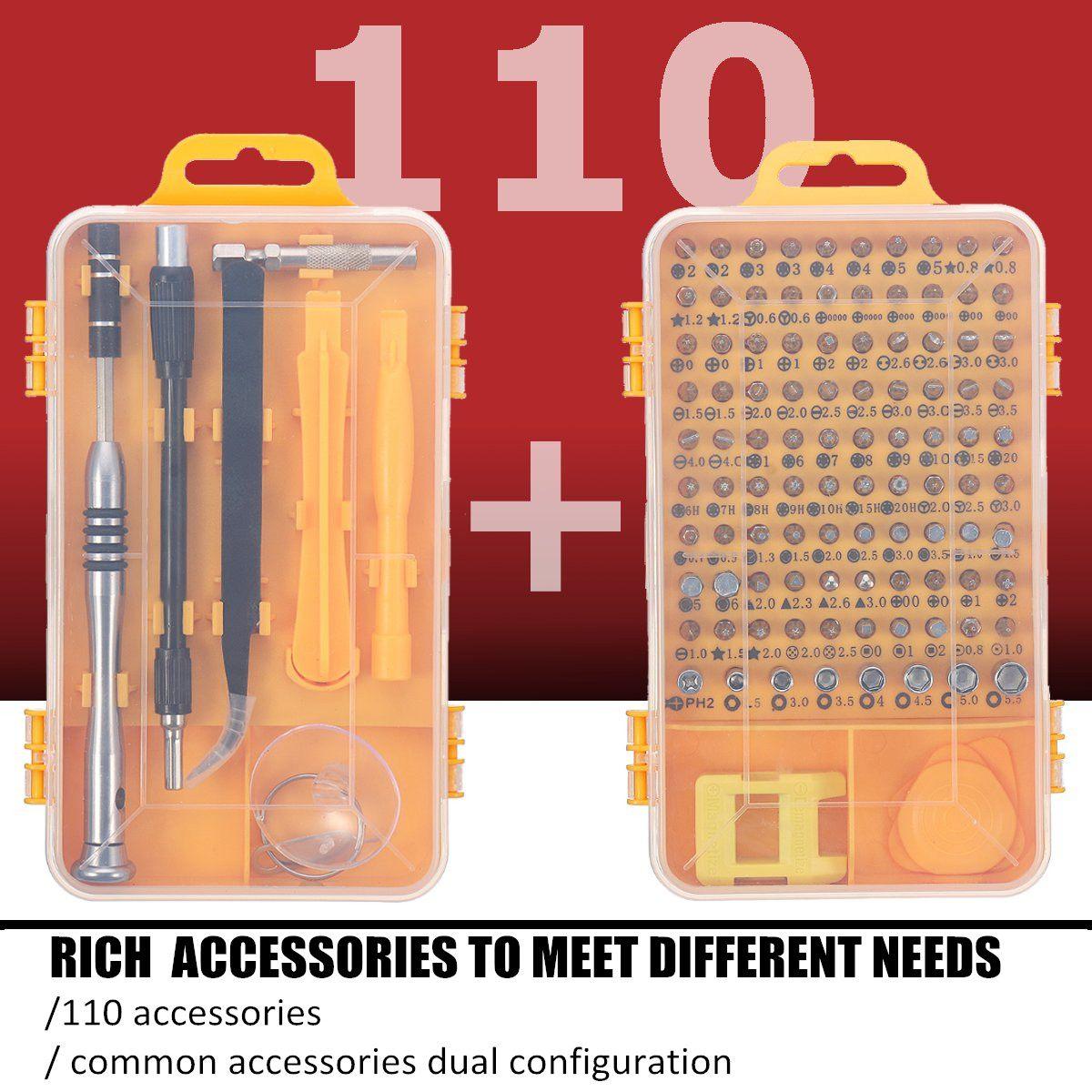 Reparatur-werkzeuge & Kits Diy Hand Werkzeug Sets 110 Teile/los Uhren Telefon Reparatur Werkzeuge Bits Kits Pinzette Multifunktions Schraubendreher Uhrmacher Zubehör