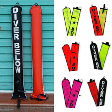 1.2m/4ft High Visibility Inflatable Scuba Diving SMB Surface Marker Buoy Underwater Safety Float Sausage Signal Tube Accessories 1 2m 4ft high visibility inflatable scuba diving smb surface marker buoy underwater safety float sausage signal tube accessories