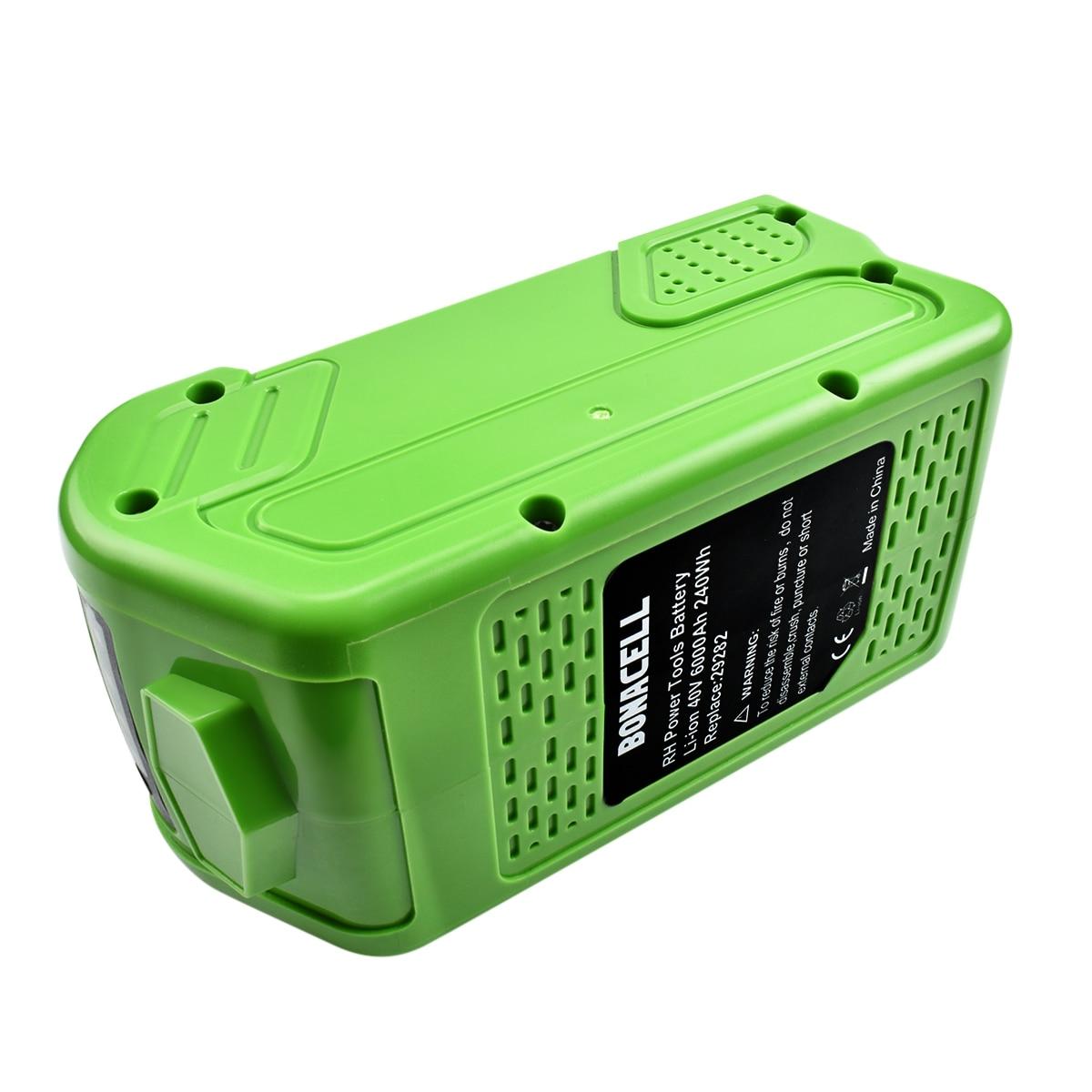 Powtree 40V 6000mAh Bateria Recarregável de Substituição para Creabest 40 W 200 V GreenWorks 29462 29472 22272 G-MAX GMAX l30