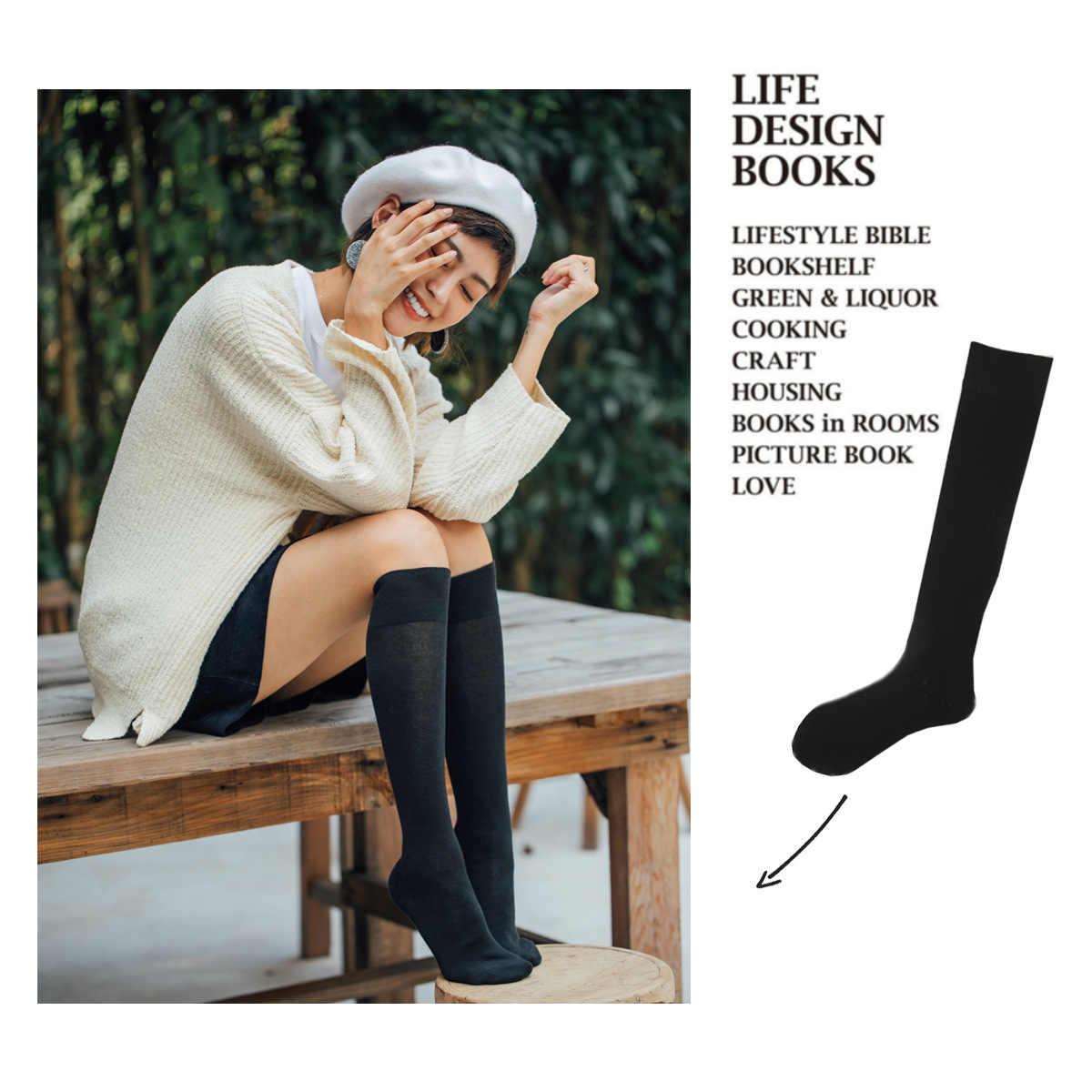 8a1b16c97 2019 Fashion Women Stockings Warm Thigh High Knee Funny Cute Socks School  Girls Japanese Long Cotton