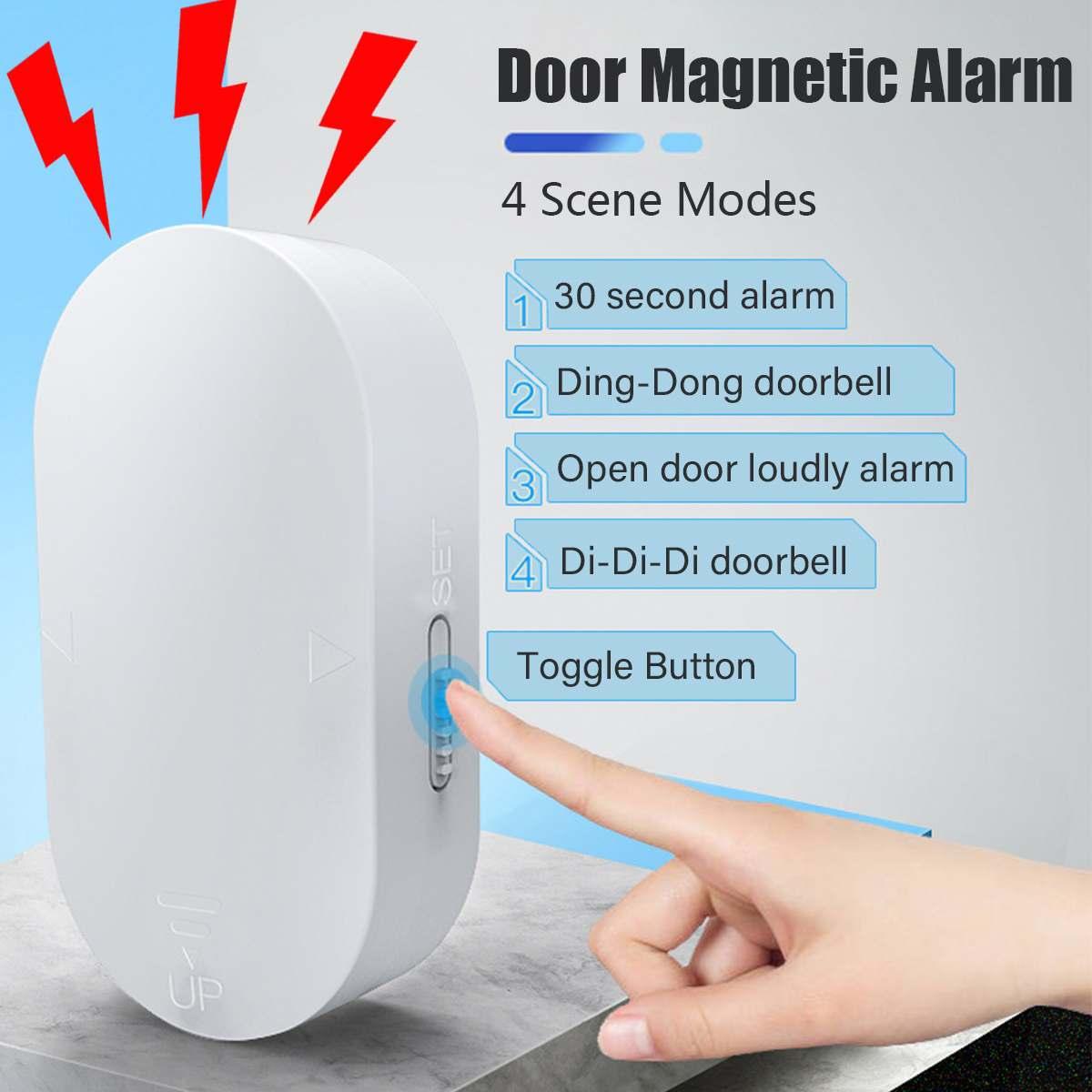 Window Door Sensor 120 DB Loud Sound Alarm Wireless Home Entry Burglar Alarm Magnetic Sensor Window Door Security System Device