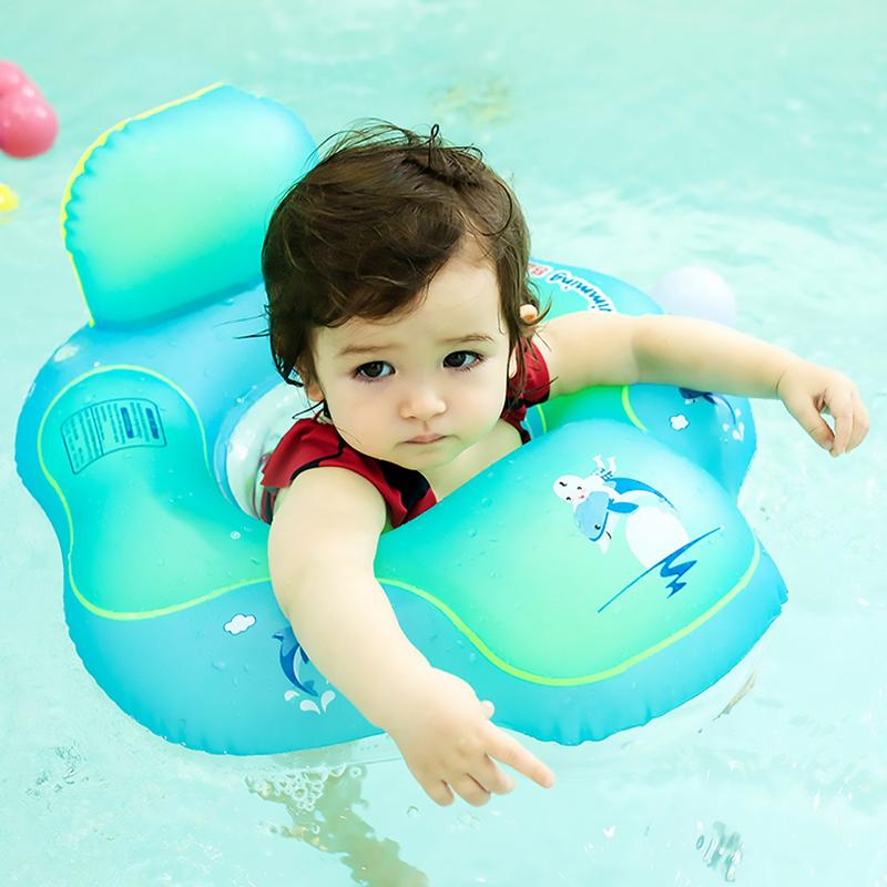 Children Summer Swimming Toddler Baby Safety Aid Float Seat Ring Baby Swim Ring Elephant Blue