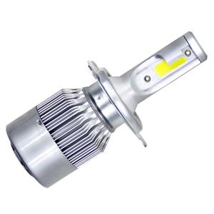 Image 2 - 1X H7 9004 9005 H4 Led H4 Auto Headlights72w 8000lm Auto LED Lampen Auto Koplamp 6000 k led 12 v mistlampen C6 Auto Led
