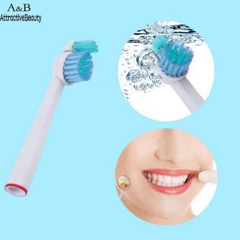 4 piezas foto de cepillo de dientes de reemplazo Oral cabezas como herramienta cepillo de limpieza eléctricos