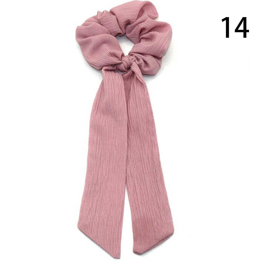 Bohemian Polka Dot ดอกไม้พิมพ์ริบบิ้นโบว์ผม Scrunchies ผู้หญิงผมวงยืดหยุ่นผ้าพันคอเชือกผม TIES หญิงอุปกรณ์เสริมผม