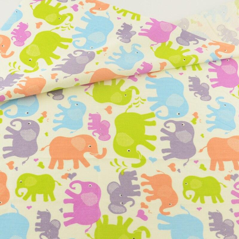 Elephant Fabric Elephant Cotton Fabric Yellow Cotton Fabric Cotton Fabric