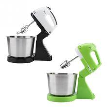 230v ev 7 hız elektrikli yiyecek mikseri masa kek standı hamur karıştırıcı el yumurta çırpıcı Blender pişirme krem şanti