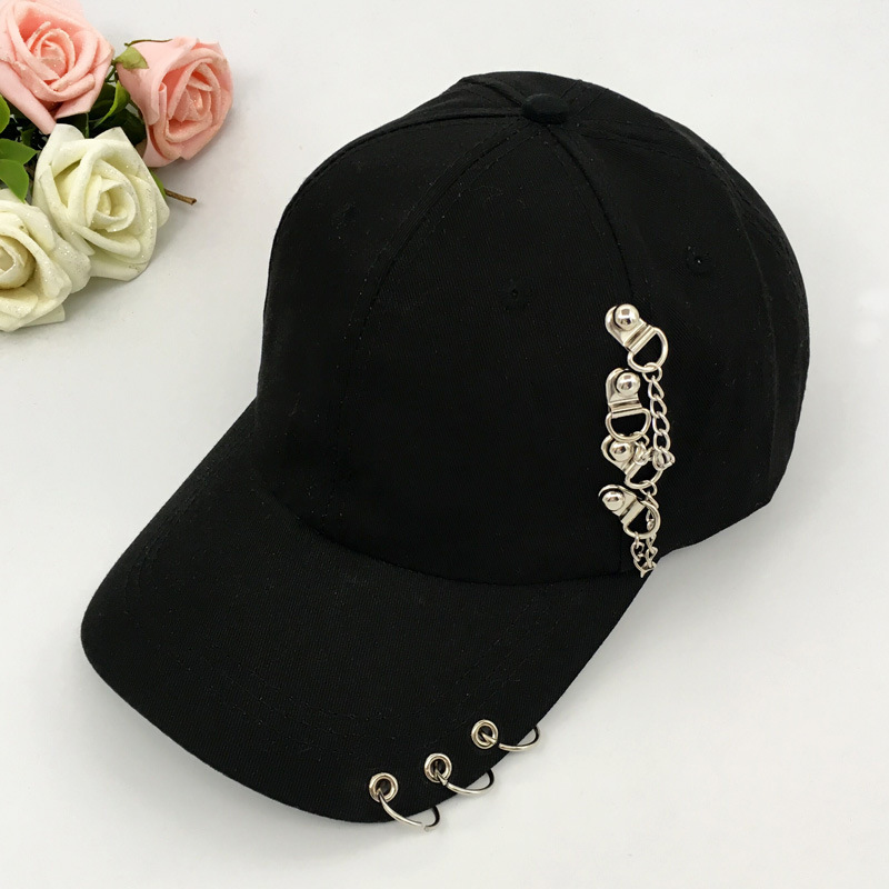 2018   Baseball     Cap   Casual Solid Adjustable Iron Ring   Baseball     Caps   Snapback   Cap   Casquette Hats Fitted Casual Gorras Dad Hats