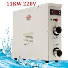 1 adet 11KW 220V AC elektrik dijital SU ISITICI termostat yüzme havuzu için SPA jakuzisi banyo su ısıtma