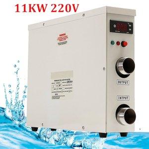 Image 1 - 1 adet 11KW 220V AC elektrik dijital SU ISITICI termostat yüzme havuzu için SPA jakuzisi banyo su ısıtma