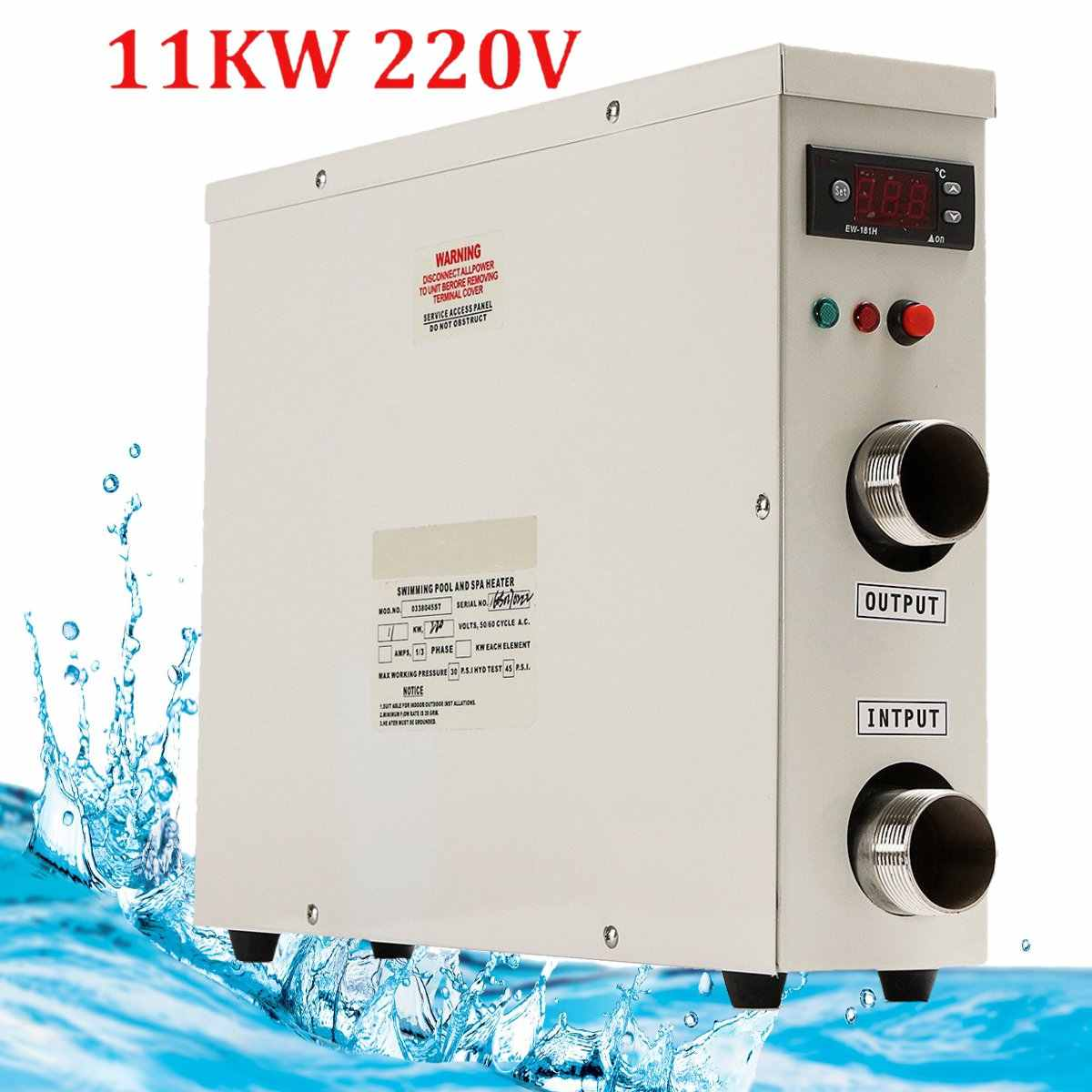 Water Heater Thermostat 220V 11KW High-Power Swimming Pool Thermostat SPA Bath Portable Pool Heater Electric Water Heater Thermostat Heater Pump