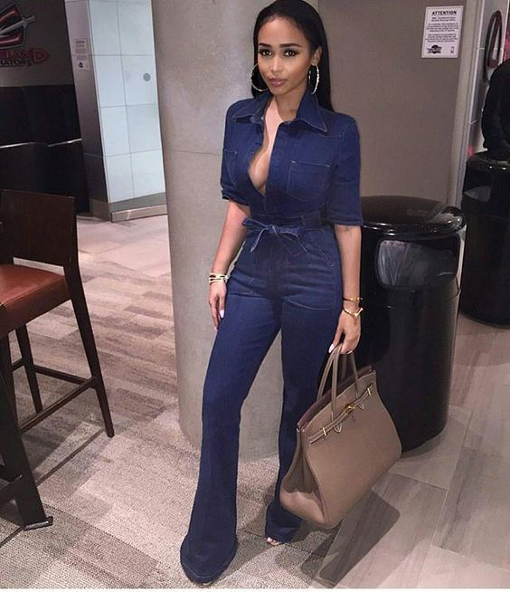 Casual Denim Romper Jumpsuits For Women Solid One Piece Body Mujer Jean Jumpsuits With Sashes Summer Blue Overalls Plus Size