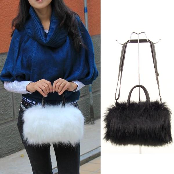 Fashion And Temperament Girls Lady  PU Leather & Faux Fur Handbag 100% Marke Neue Bag   Best Sale-WT